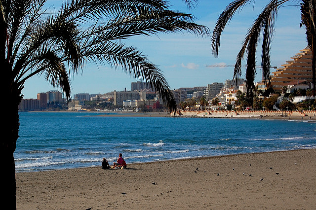 Warm weather in Malaga